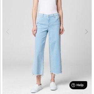 BlankNYC Cropped wide leg jeans